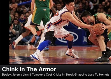 ESPN Apologizes For Offensive Jeremy Lin Headline Because Lin Doesn't Wear Armor