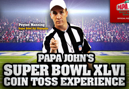 Peyton Manning Leaves Football to Focus on his Papa John's Commercial Career