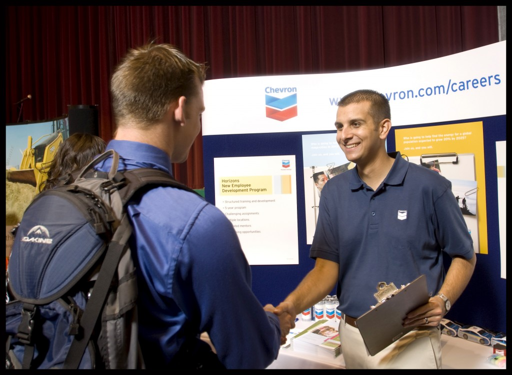 Freshman at Career Fair Worried He Doesn't Have Enough Room on Resume
