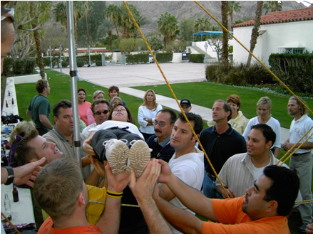 Leaders of Israel and Palestine Participate in Teambuilding Activities