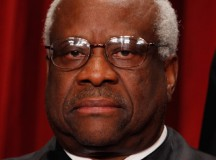 Clarence Thomas Breaks Jinx, Owes Ginsberg a Coke