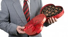 Penis Surprises Hand with Box of Chocolates on Valentine's Day