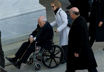 Cheney in Wheelchair at Obama's Inauguration; One Step Forward, Two Steps Back in Becoming Dark Sith Lord