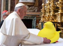 Pope Francis Eagerly Devours Peeps from Easter Basket