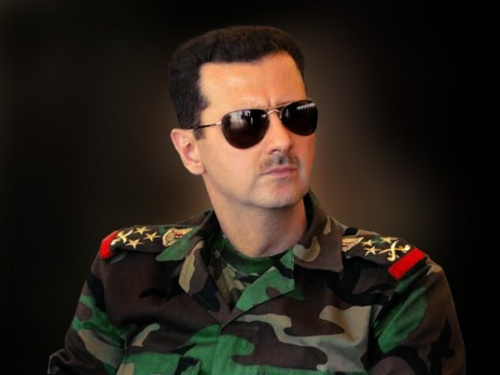 Bashar Al-Assad Also Eats Pizza With a Fork and Knife
