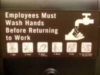 Handwashing Directions Clarify Handwashing For Local Employee