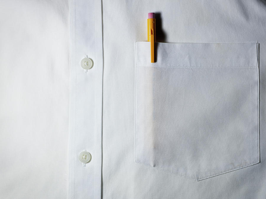 Front Pocket Holds One Pen, Two Pens Tops
