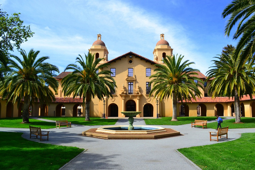 Old Union & Fountain at Stanford University