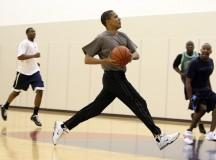 Obama Savors Silent Fist-Pump After Nailing Long-Range Paper-to-Wastebasket Shot