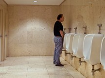 Guy At Adjacent Urinal Sure Has A Powerful Stream