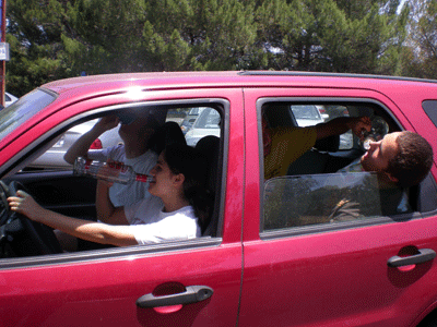 Students Turn Driving into a Drinking Game