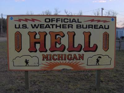 Hell, Michigan Freezes Over