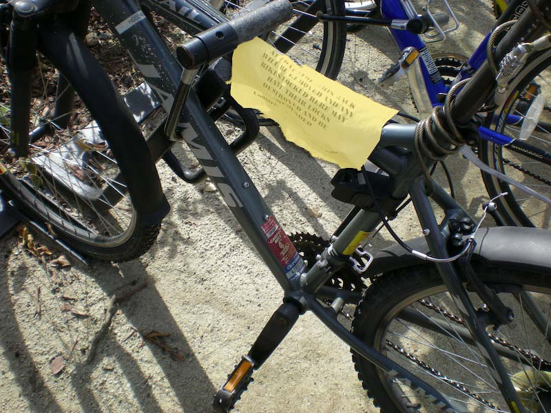 Bike Parking Citation Causes Student to Reevaluate Life
