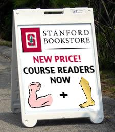 Bookstore Reduces Cost of Course Reader to An Arm & A Leg