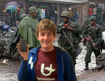 Local Student Travels to Congo For Volunteer Project of Letting People in the Congo Use His iPhone