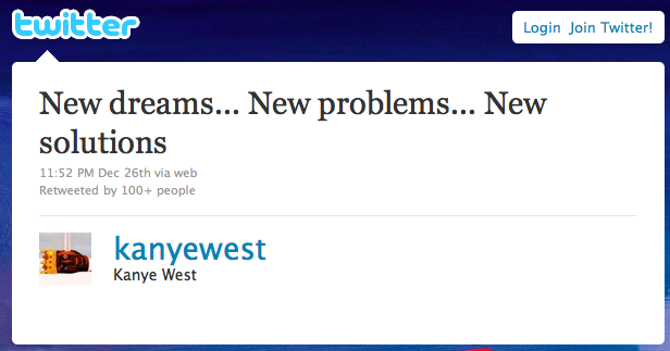 Kanye West Releases New Tweet