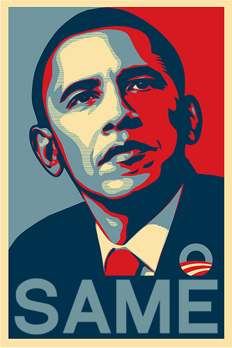 "Obama Announces 2012 Presidential Campaign With Promises of ""Same"""
