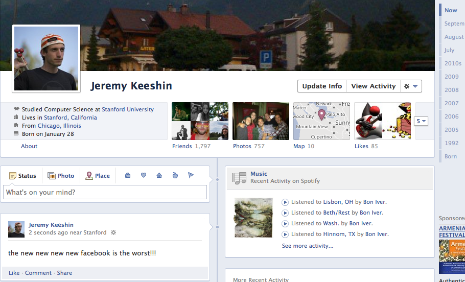 Facebook Introduces the New New New New Facebook