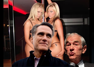 Mitt Romney Wakes Up in Vegas Married to Six Hookers and Ron Paul