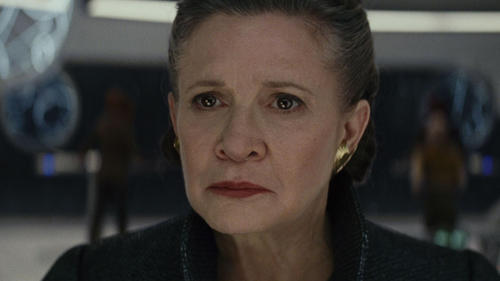 "No Merchandising. Editorial Use Only. No Book Cover Usage Mandatory Credit: Photo by Lucasfilm/Disney/Kobal/REX/Shutterstock (9264120au) Carrie Fisher ""Star Wars: The Last Jedi"" Film - 2017"
