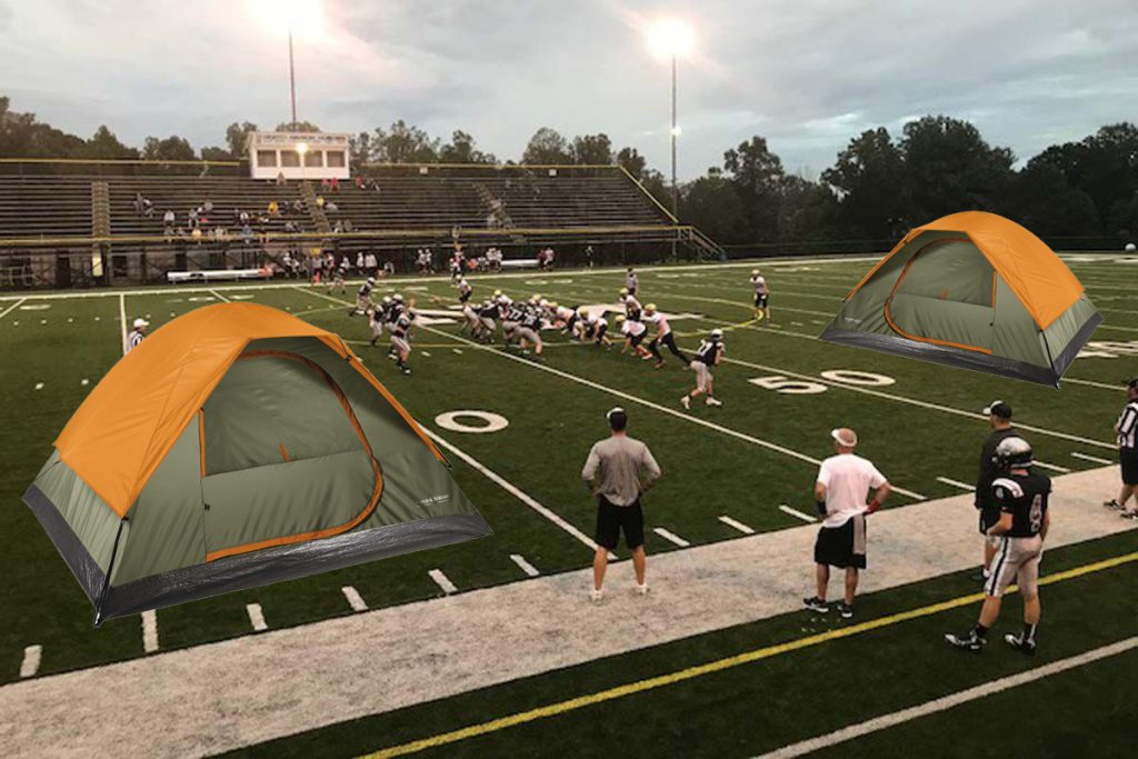 Stanford Tackles Overcrowding by Pitching Tents on Football Field