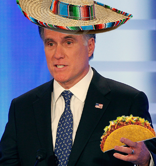 Romney Holds Taco for Entire Debate in Attempt to Appeal to Hispanic Voters