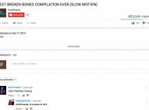 Shaftmaster and Vajayjaytarian Really Going At It In Comments Section Of BEST BROKEN BONES COMPILATION EVER (SLOW MOTION)