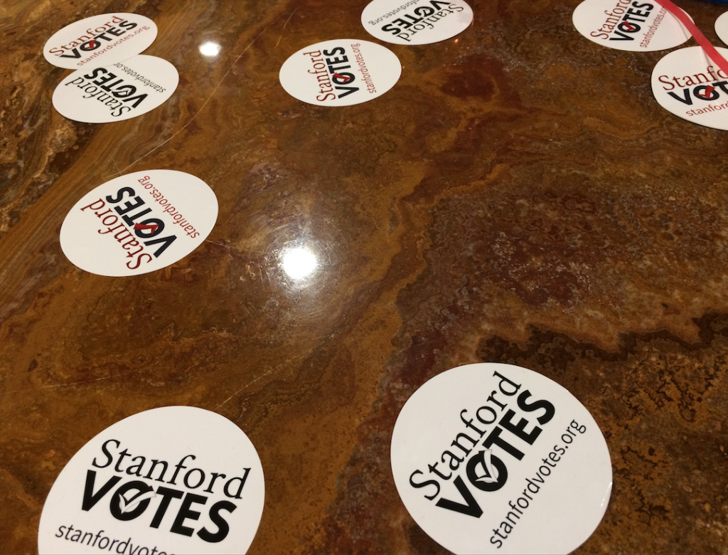 "Haas Center Distributes Blatantly False ""Stanford Votes"" Stickers"