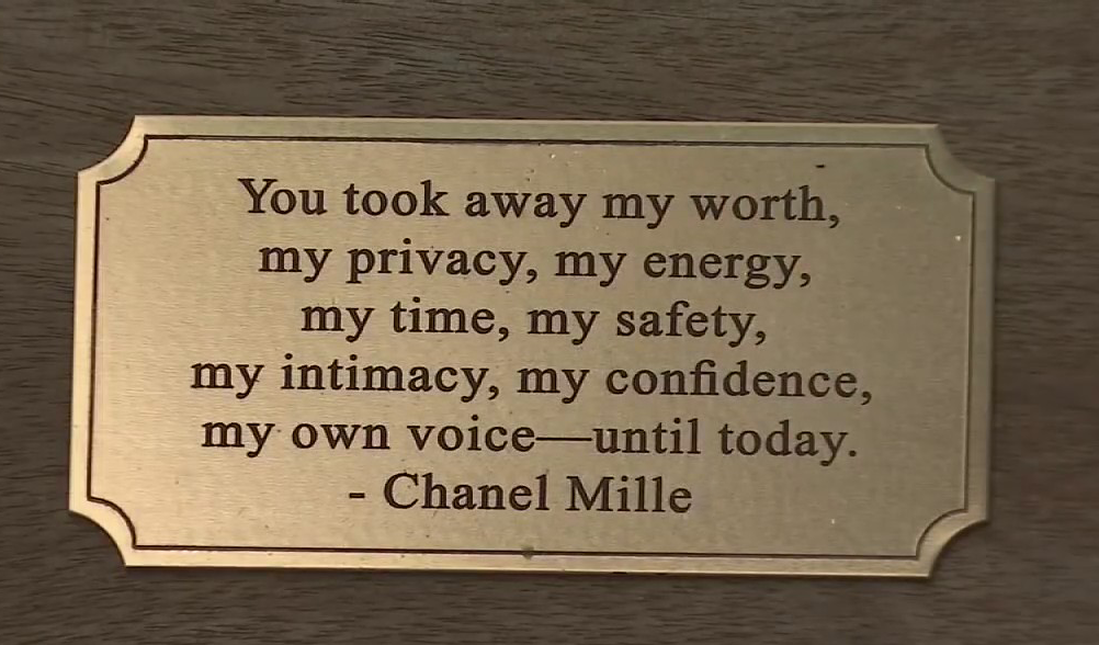 Typo on Chanel Miller Plaque Sets Process Back Another Three Years