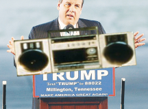 Chris Christie Seen Blasting Boombox Outside Trump's Hotel Room