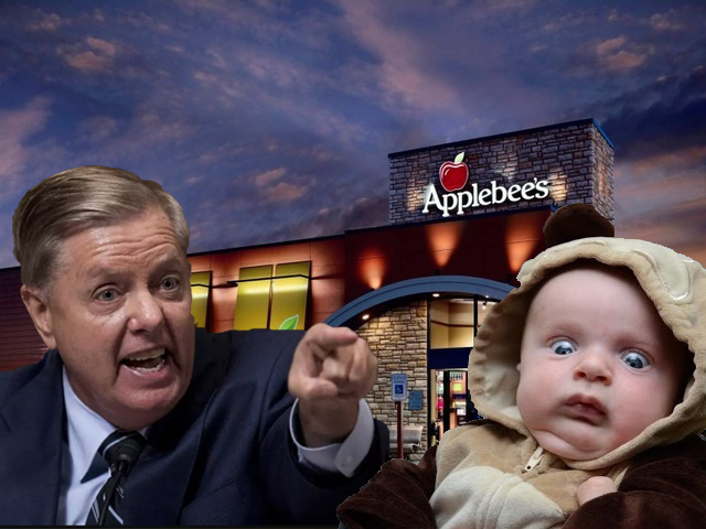Senator Lindsey Graham caught throwing hands at a baby in an Applebee's parking lot