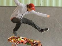 Swedish Man Tries to Kickflip Smorgasbord