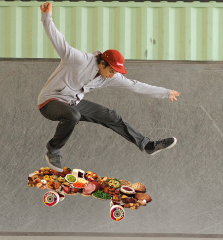 Swedish Man Tries to Kickflip Smorgasbord