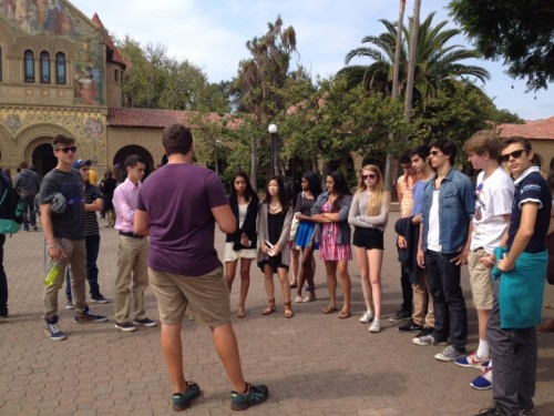 Inside the Life of a Stanford Tour Guide with a 11:00 Tour