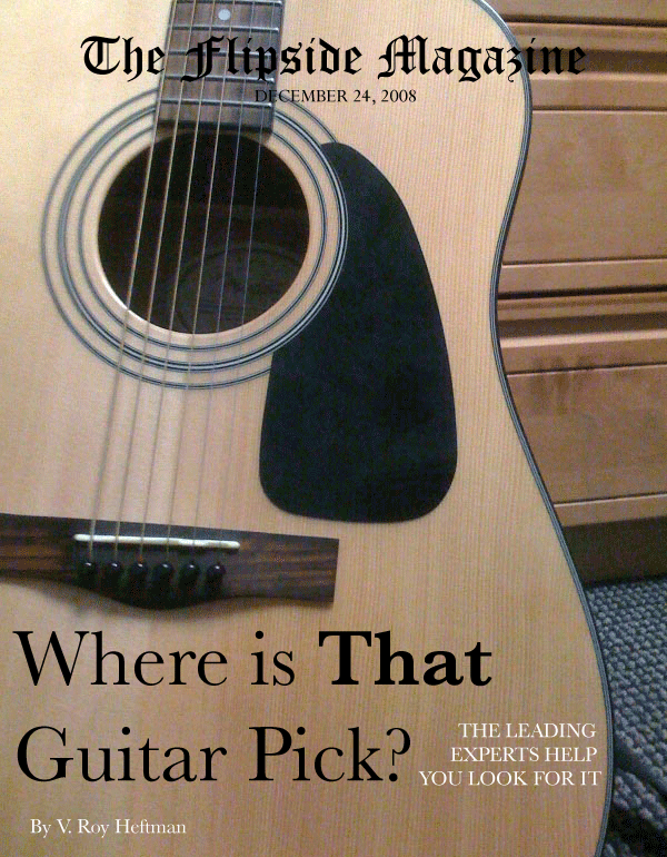 The Flipside Magazine: Where Is That Guitar Pick?